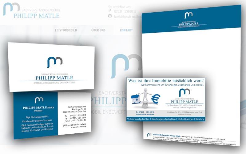 Portfolio - Branding - Sachverständigenbüro Matle