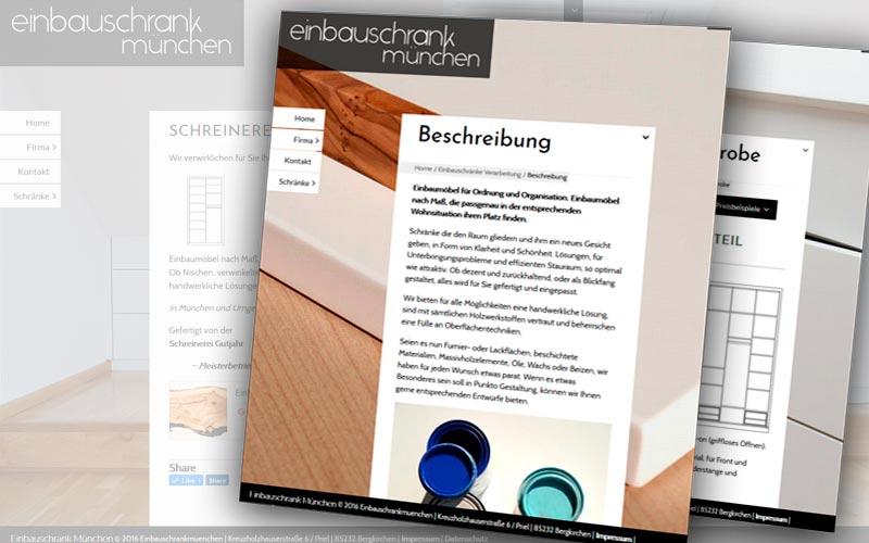 Portfolio Webdesign Einbauschrank Munchen